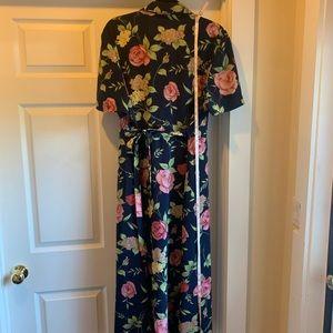 Dress barn blue floral dress